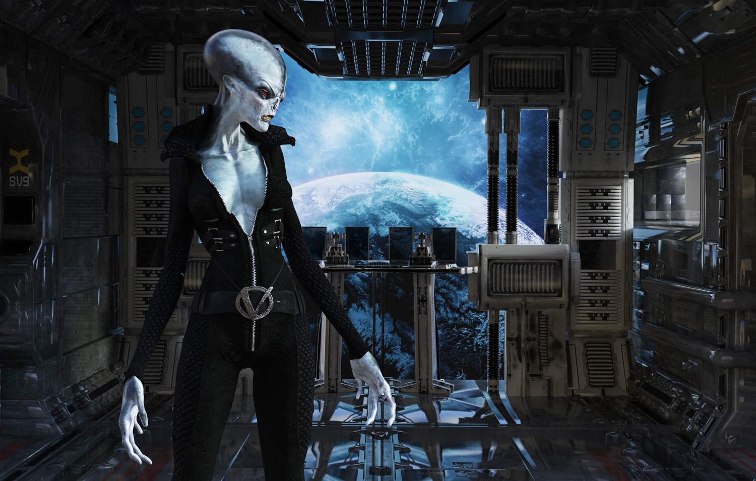 Artist rendering of Zarka female from the Hive Triology