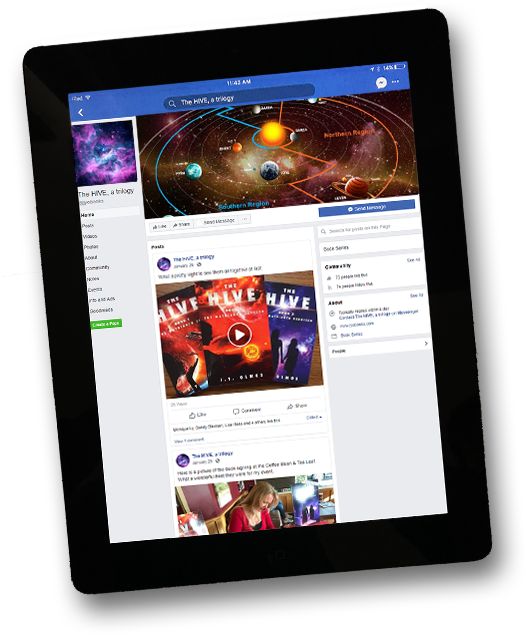 JYO Books Facebook page on iPad