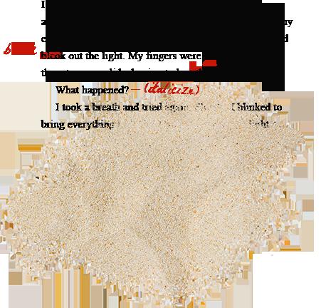 manuscript editing sand